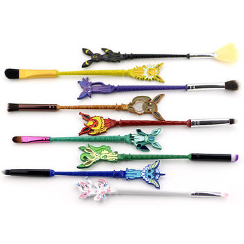 FREE SHIPPING - Pokemon Gift Pokémon Makeup Brushes 9pc Brush Set