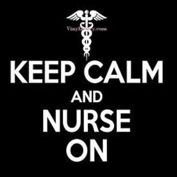 Keep Calm Nurse On Vinyl Car Decal