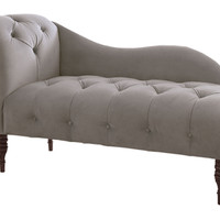 Francis Tufted Chaise, Smoke, Chaise Longues
