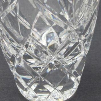 Cut Glass Charleston bud vase  Lenox USA , crystal