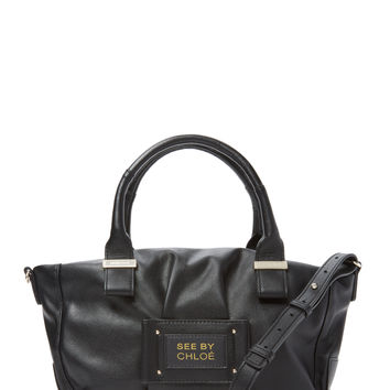 See by Chloe Women's Small Faux Leather Satchel - Black