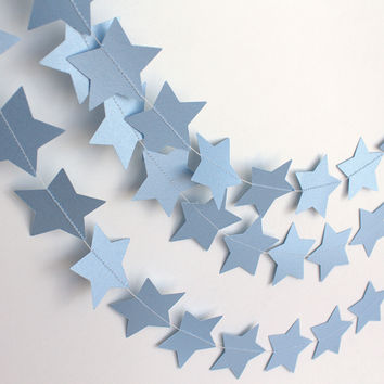 Blue Star Garland, Wedding Decor, Party 10 Ft