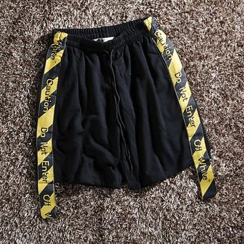 Off White Fashion Casual Shorts