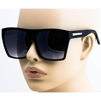 XXL OVERSIZED Womens Sunglasses Vintage Aviator Flat Top Square Elite shades