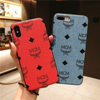 MCM Leather Fashion Cover Case for iPhone