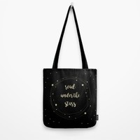 Read Under the Stars Tote Bag by Infinitelyeverafter