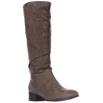 madden girl Persis Flat Knee-High Boots, Taupe, 6.5 US