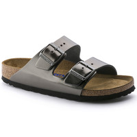 Arizona Soft Footbed Leather Metallic Anthracite | BIRKENSTOCK