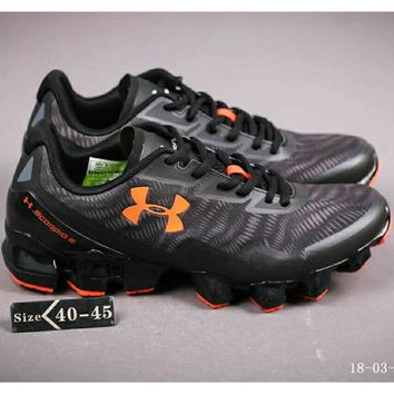 Under Armour UA SCORPIO MD Blade Comfort Shock Absorbing Sports Running Shoes F-A-FJGJXMY black+orange