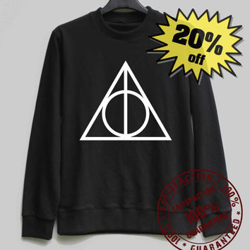 Deathly Hallows Shirt Harry Potter Sweatshirt Sweater Shirt – Size XS S M L XL