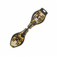 COOLGO Skull Pattern ABS Double Wheels Ripstik Skateboard Yellow,ship from US