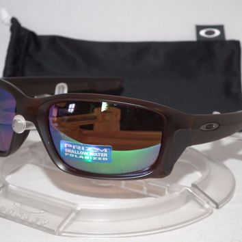 OAKLEY POLARIZED STRAIGHTLINK SUNGLASSES OO9331-06 MATTE ROOTBEER /PRIZM SHALLOW
