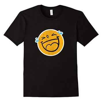 Emoji T-Shirt Laugh Smile Tears NEW Emoticon