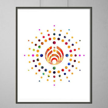 Bassnectar Into The Sun Watercolor print. Basshead poster, Bassnectar illustration Geek Art Bassheads boho wall art, vertical print [N147]