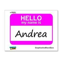 Andrea Hello My Name Is Sticker