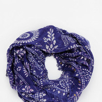 Urban Outfitters - Embellished Woodblock Eternity Scarf