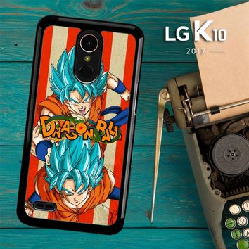 Son Goku Super Saiyan God Blue Z2614 LG K10 2017 / LG K20 Plus / LG Harmony Case