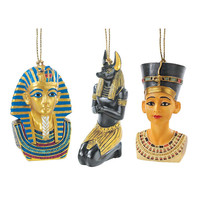 Park Avenue Collection Set Of Three Egyptian Ornaments