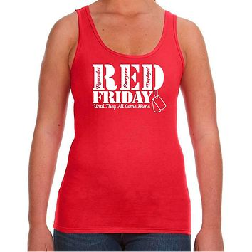 Red Fridays Remember Everyone Deployed Womens Tank Top