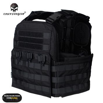 Emersongear CP Style CPC Tactical Vest Body Armor Molle Cage Plate Carrier Military Cherry Combat Gear EM7400 Multicam Black