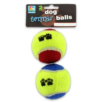 Bouncy Dog Tennis Ball With Paw Print Set of 24 Pack