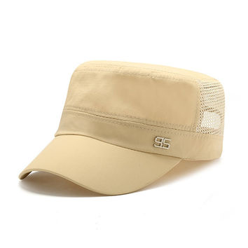 Men Women Classic Army Plain Flat Hat Cadet Military Mesh Baseball Cap