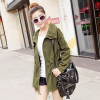 New 2016  Lady Fashion Jacket Women Casual Windbreaker Spring Autumn Women's Coat Loose Slim Outwear
