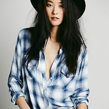 Rails Womens Draped in Plaid Shirt