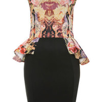 Petites Floral Peplum Dress - New In - Miss Selfridge