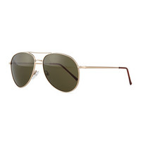 Illesteva Lispenard Aviator Sunglasses, Golden