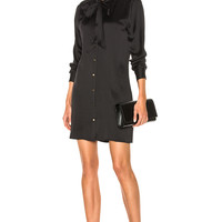 Equipment Leema Dress in True Black | FWRD