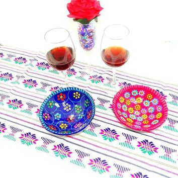 Mexican Table Runner for Fiestas, Taco Tuesday Decorations