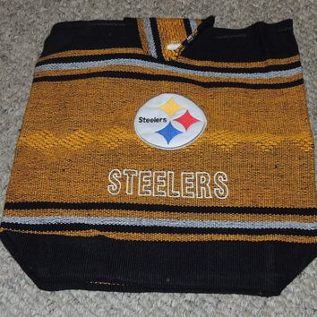 Steelers Logo Backpack Southwestern Indian Yellow and Black Tote Bag