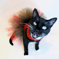 CoolCats Red Cheetah Print Cat Tutu