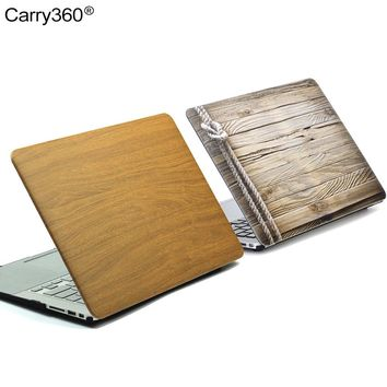 Carrt360 New Wood Grain PU Leather Case for Macbook Pro 13 Case Cover for Apple Mac book Air 13 11 Pro Retina 12 13.3 15 inch