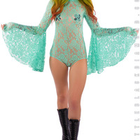 Stevie Bodysuit in Seafoam Lace