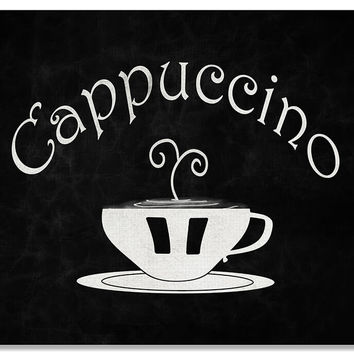 Cappuccino Cup Word Art Print Wall Art