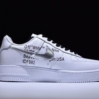 Nike Air Force 1 One OFF-WHITE x Nk Air Force 1 Low Running Sport Casual Shoes