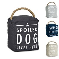 Canvas Witty Sayings-Pet Theme Door Stoppers
