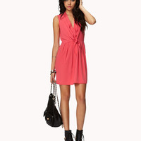 Pleated Tie-Front Dress   FOREVER 21 - 2027704189
