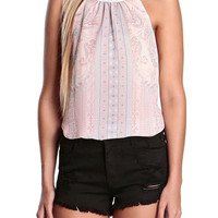 Calista Paisley Halter Top