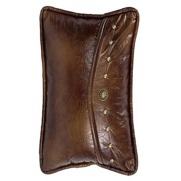 Cowgirl Kim Ruidoso Rustic Faux Leather Envelope Pillow