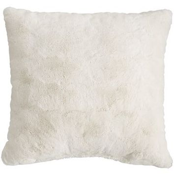 Fuzzy Ivory Pillow
