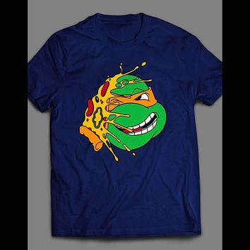 "SMACK THAT ""PIZZA MIKEY"" MICHELANGELO TEENAGE MUTANT NINJA TURTLES  TMNT SHIRT"