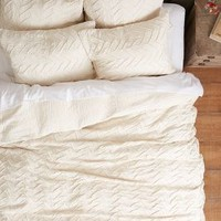 Textured Chevron Duvet by Anthropologie