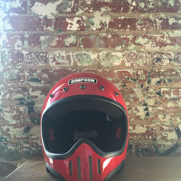 Simpson Model 50 Helmet, Red
