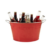 Country Home: Big Red Galvanized Tub