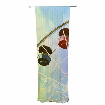 "Sylvia Coomes ""Let's Go On An Adventure"" Multicolor Pastel Photography Decorative Sheer Curtain"