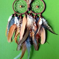 Dream Catcher - Owl - Bohemian - Feathered DreamCatcher