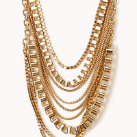 Edgy Multi-Chain Layered Necklace